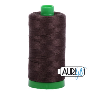 Aurifil 40 Cotton Thread - 1130 (Dark Brown)